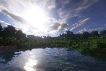 Wallpaper Landscape, Minecraft, Shaders