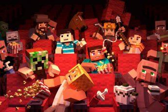 Wallpaper Lego Movie Still, Lego Digital Wallpaper, Minecraft