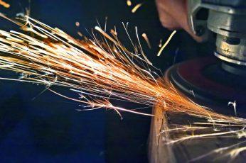 Wallpaper Light, Welding, Sparks, Motion, One Person, Worker