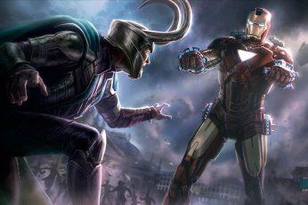 Wallpaper Loki Avengers Drawing Iron Man Hd, Movies