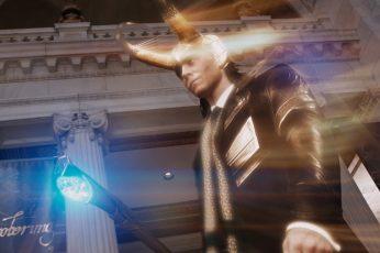 Wallpaper Loki, Villains, Blurred, Architecture