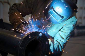Wallpaper Man, Worker, Sparks, Metallurgical, Welding
