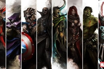 Marvel Characters Collage Wallpaper, Marvel