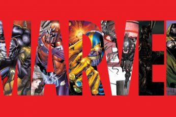 Wallpaper Marvel Red Venom Magneto Thanos Infinity Gauntle
