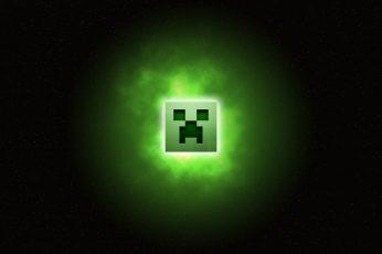 Wallpaper Minecraft, Art, Digital Art, Abstract, Dark Back