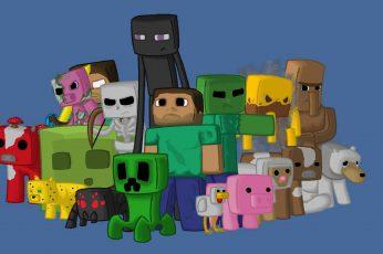 Wallpaper Minecraft Clipart, Characters, Game, Pixels