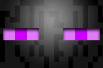 Wallpaper Minecraft, Enderman, Video Games, Abstract