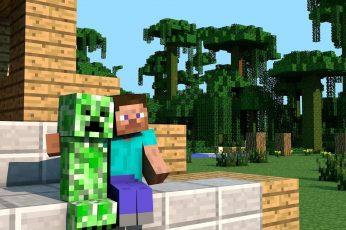 Wallpaper Minecraft Game Application Screenshot, Video Games