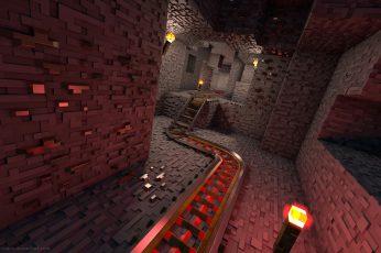 Wallpaper Minecraft Game, Render, Video Games, Architecture