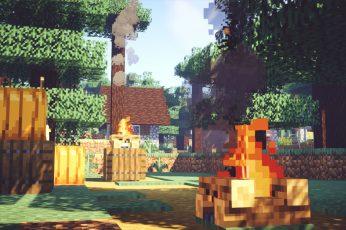 Wallpaper Minecraft, Shaders