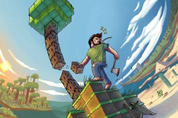 Minecraft Wallpaper, Artwork, Video Games, Computer