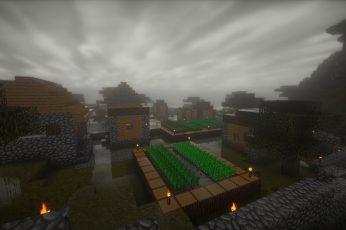Minecraft Wallpaper, Shaders, Video Games, City