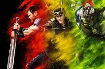 Wallpaper Movie, Thor Ragnarok, Chris Hemsworth, Hulk