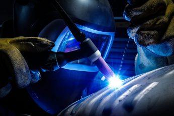 Wallpaper Person Welding Gray Metal Equipment, Man Welding