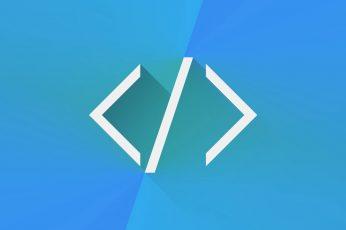 Wallpaper Programming End Bracket Code, Html, Blue