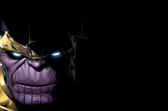 Wallpaper Purple Hero Illustration, Thanos, Comics, Marvel
