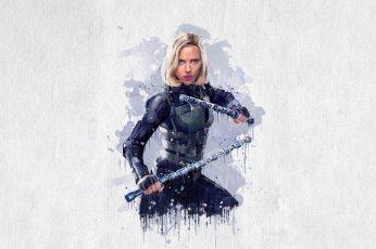 Wallpaper Scarlett Johansson, Infinity, Vision, Hulk
