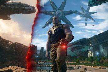 Wallpaper Thanos From Marvel Infinity War Movie Still