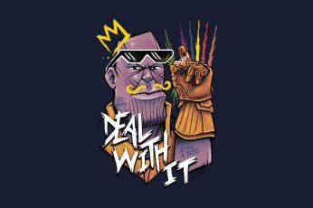 Wallpaper Thanos, Hd, 4k, Artwork, Digital Art, Superheroes