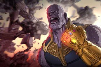 Wallpaper Thanos, Marvel Comics, The Avengers, Avengers