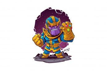 Wallpaper Thanos, Simple Background, White Background, Art