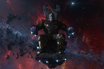 Thanos Sitting On Chair Wallpaper, Marvel Comics