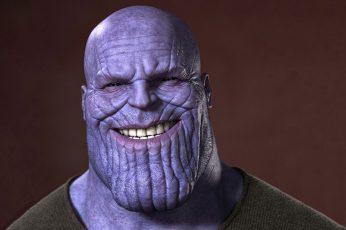 Wallpaper Thanos Smiling