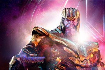 Wallpaper The Avengers, Avengers Endgame, Thanos