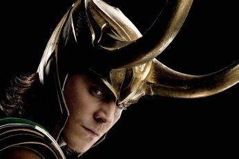 Wallpaper Thor, Loki, Tom Hiddleston, Studio Shot, Black