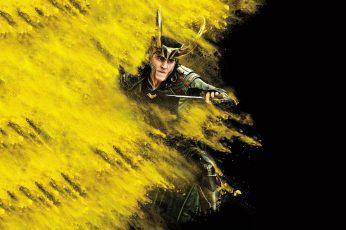 Wallpaper Thor Ragnarok, Loki, Yellow