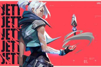 Wallpaper Valorant, Jett Valorant, Riot Games