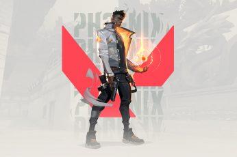 Wallpaper Valorant, Phoenix Valorant, Riot Games