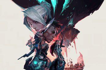 Wallpaper Valorant, Riot Games, Video Games, Digital Art