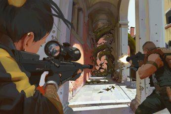Wallpaper Video Game Art, Valorant, Atey Ghailan