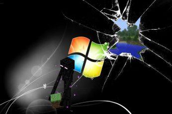 Windows Wallpaper, Windows Logo, Minecraft