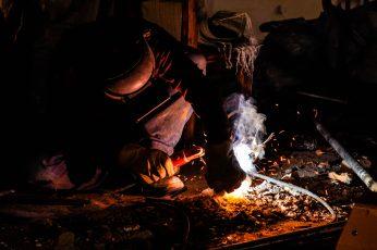 Wallpaper Worker, Welding, Welder, Metal, Steel, Spark